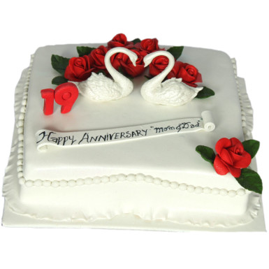 Anniversary Cake Cake Connection Online Cake Fruits Flowers
