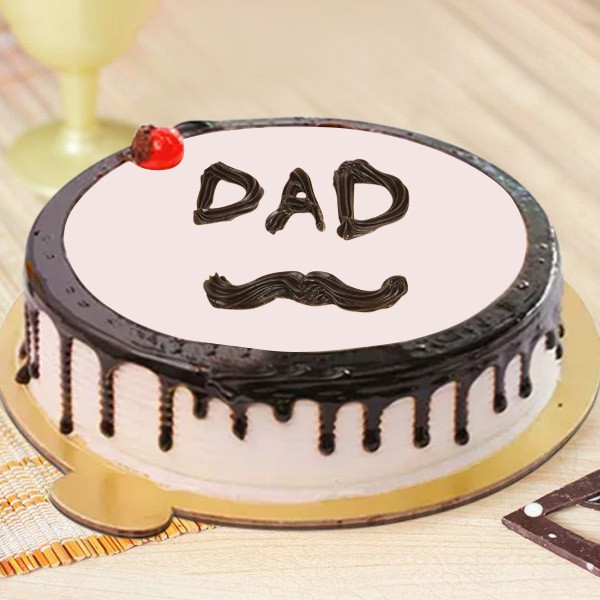 Admirable Eggless Choco Vanilla Cake Dad Cake Connection Online Cake Funny Birthday Cards Online Alyptdamsfinfo